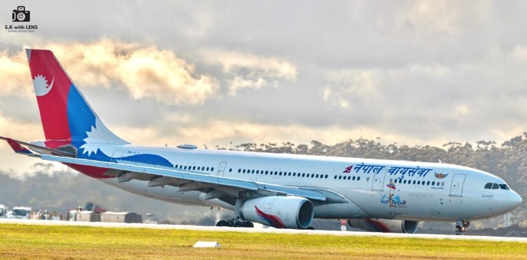 Nepal Airlines at Melbourne Airport-