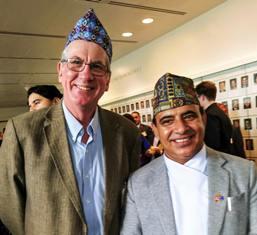 Simon Balderstone and Mahesh Raj Dahal