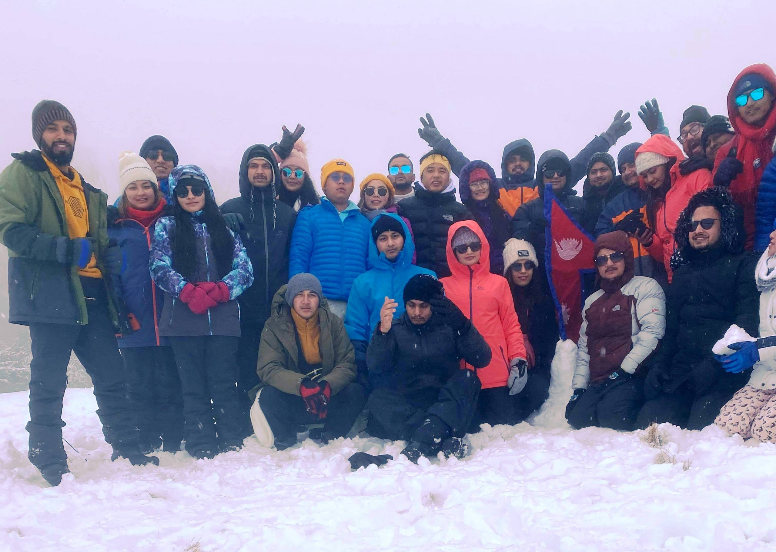 Nepalese in Snowy Mountain Area