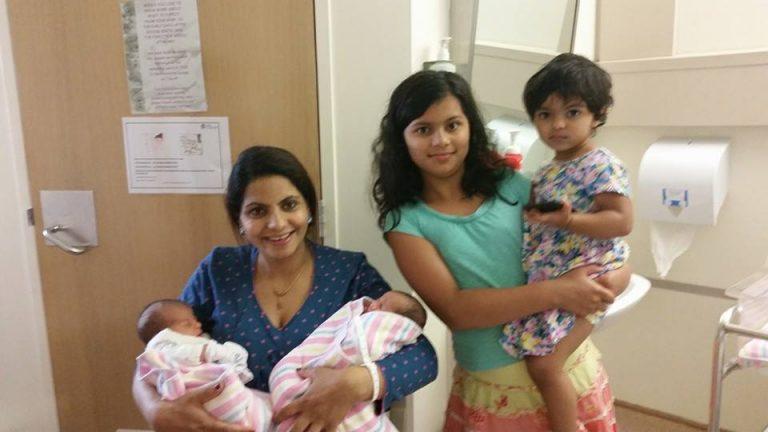 Radhika Sharma with Children