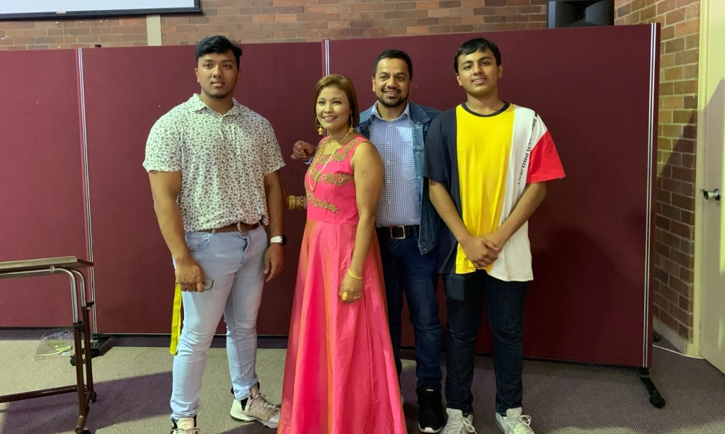 Rudra Poudel Family