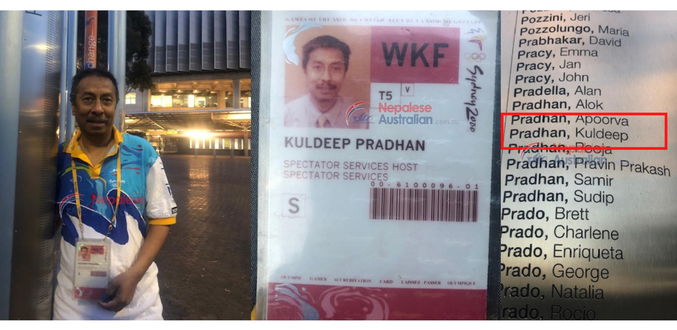 Sydney Olympic Games 2000- Nepalese Volunteer Kuldeep Pradhan