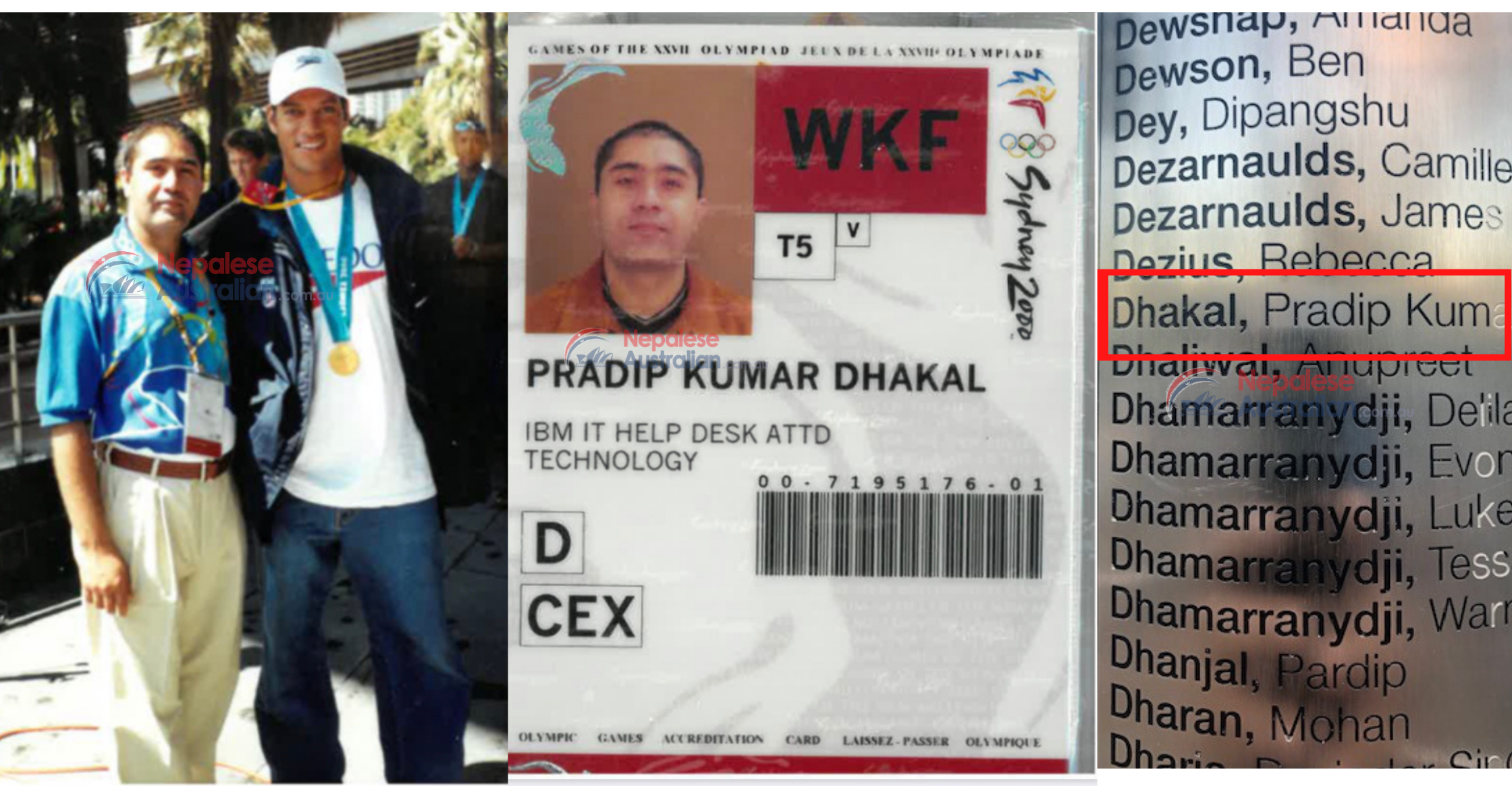 Sydney Olympic Games 2000- Nepalese Volunteer Pradip Kumar Dhakal