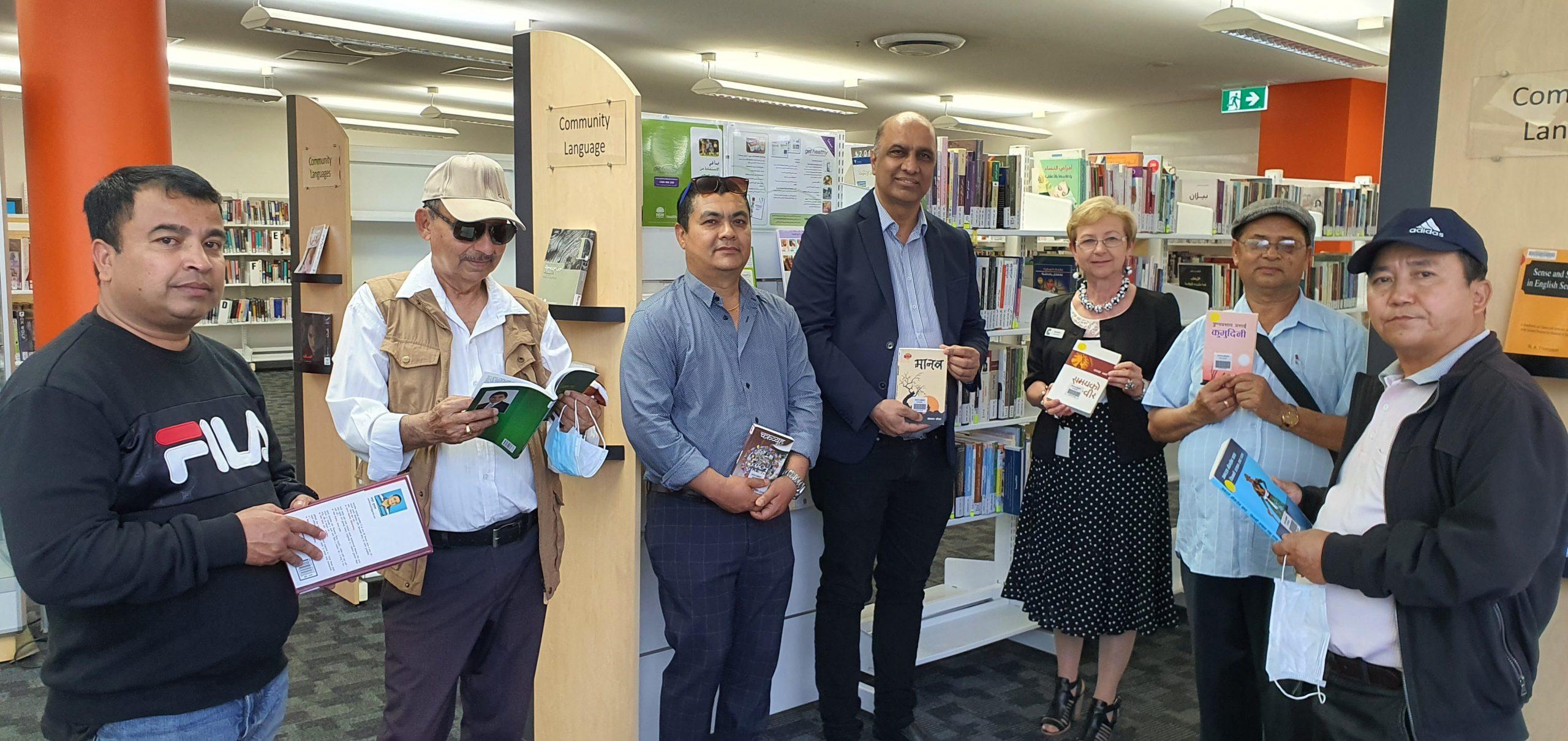 Local Nepalese Community Members attending Cumberland City Council Auburn Library Open Day Photo: Rishi Acharya