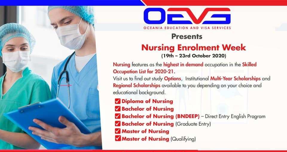 Nursing Course Enrolment Week