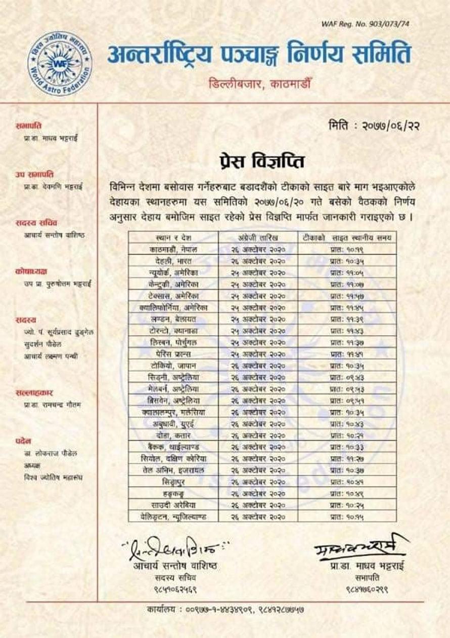 Dashain Tika Time Australia
