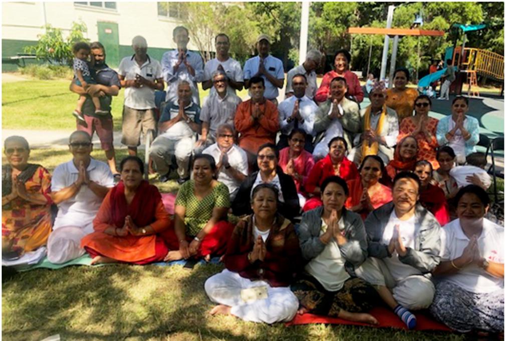 Nepalese Grandparents attending Yoga class at Penshurst