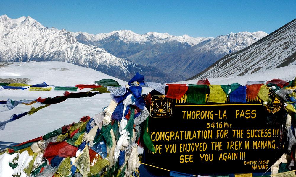 Annapurna Circuit Trek Thorong La pass 5416m