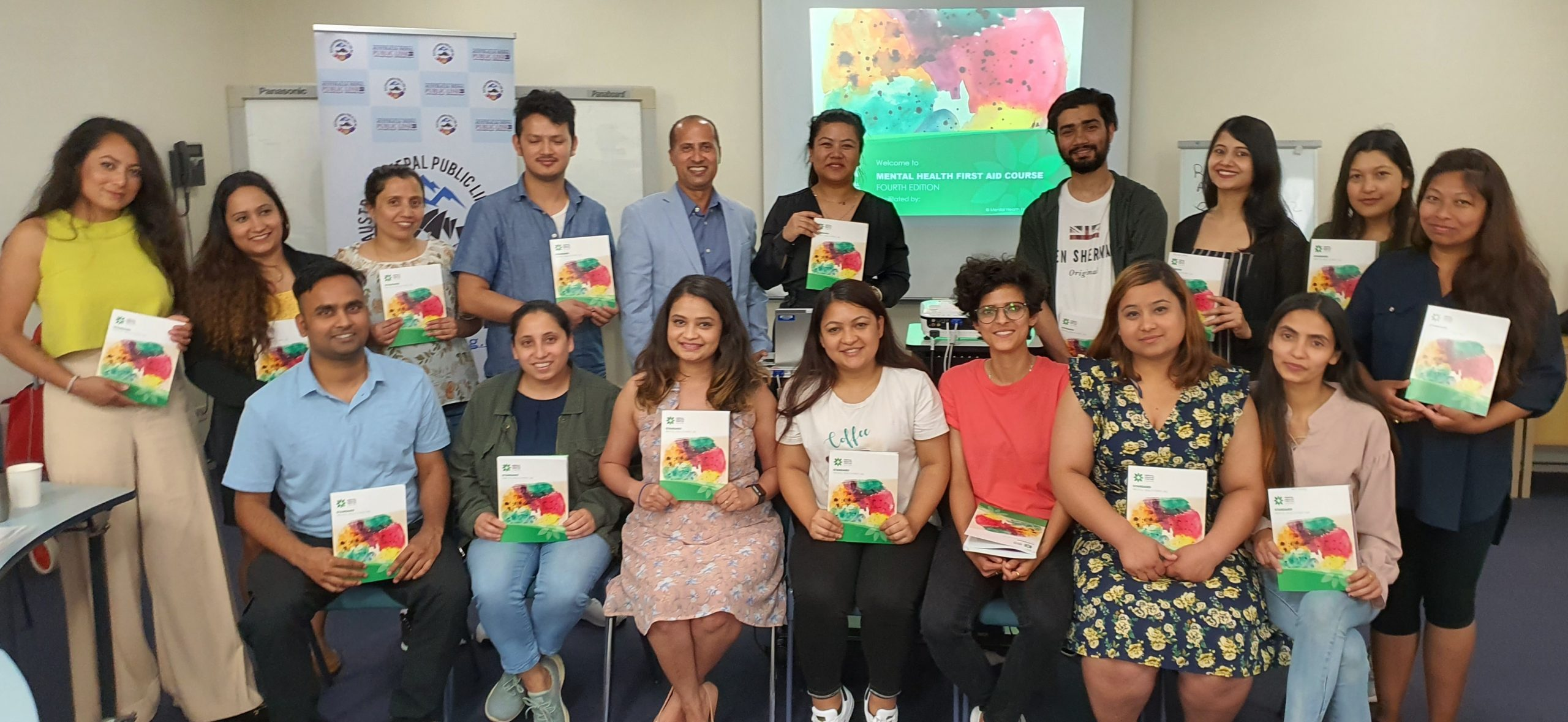 Mental Health First Training for Nepalese Social Work Students in Sydney 2020, Source: Nepalese Australian Photo Rishi Acharya