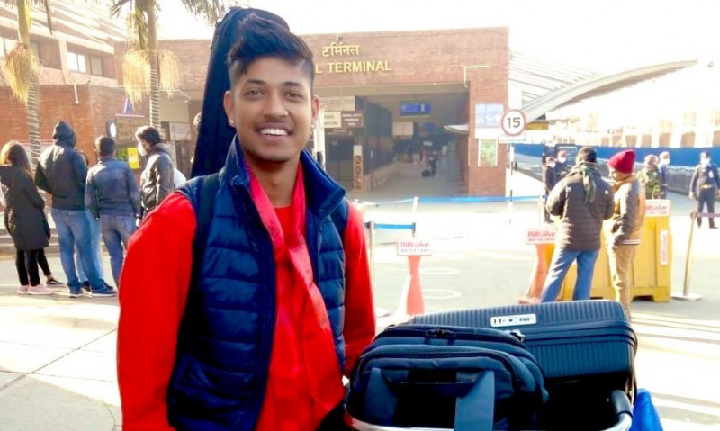 Nepali leg-spinner Sandip Lamichhane left Nepal for playing in the Big Bash League (BBL) in Australia