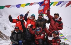 Nepalese climbers achieve history with winter summit of K2 mountain