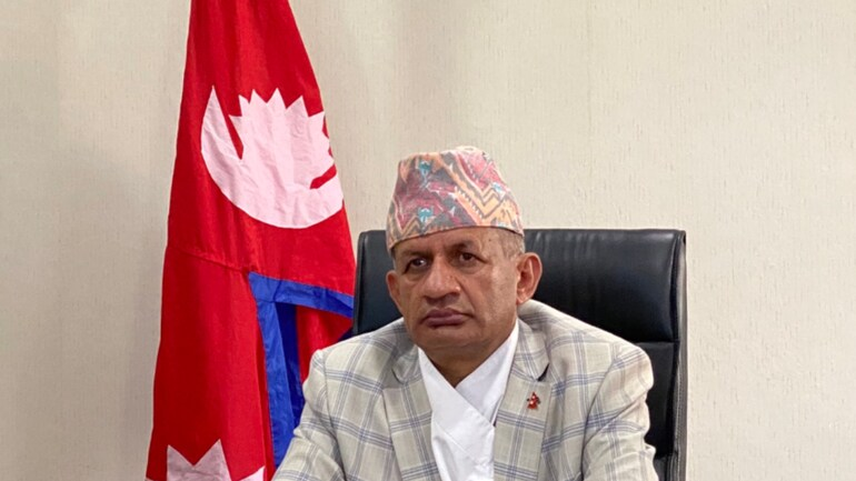 File photo of Nepal's Foreign Minister Pradeep Gyawali (Picture Courtesy: Twitter @MofaNepal)