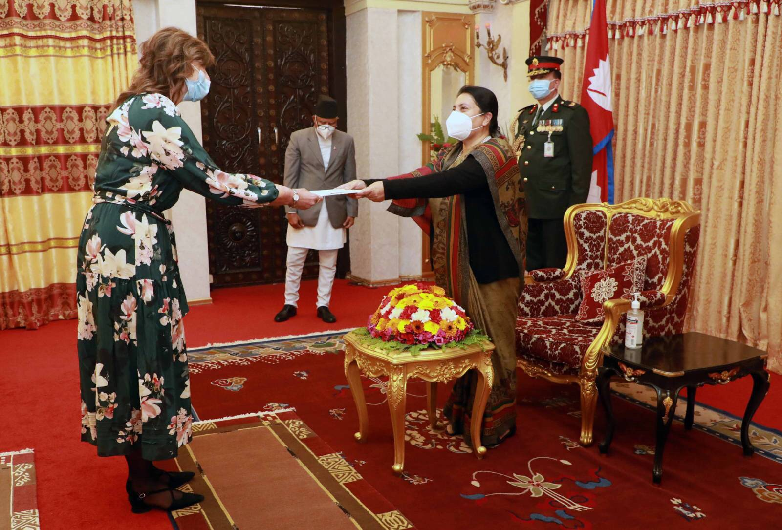 On 15 February 2021, Australia's Ambassador to Nepal, Her Excellency Ms Felicity Jane Volk, presented her credentials to the Right Honourable President of Nepal, Bidya Devi Bhandari, at an event organised at the Shital Niwas.