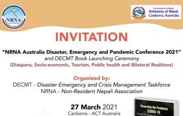 नेपाली बिज्ञहरुको सहभागितामा अस्ट्रेलियामा प्रकोप सम्मेलन हुने