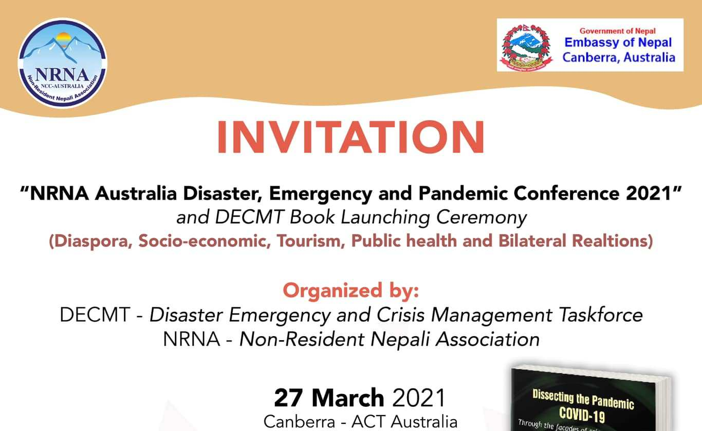 """Disaster, Emergency and Pandemic Conference 2021"""" and DECMT Book Launching Ceremony"""