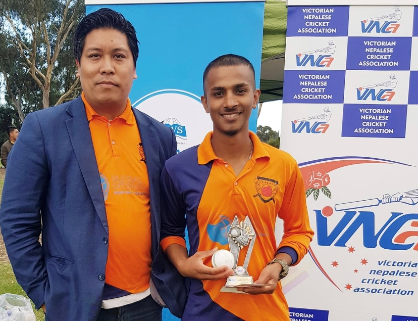 Raju Neupane is the first Nepalese cricketer to score 150 in T 10 cricket match played in Victoria
