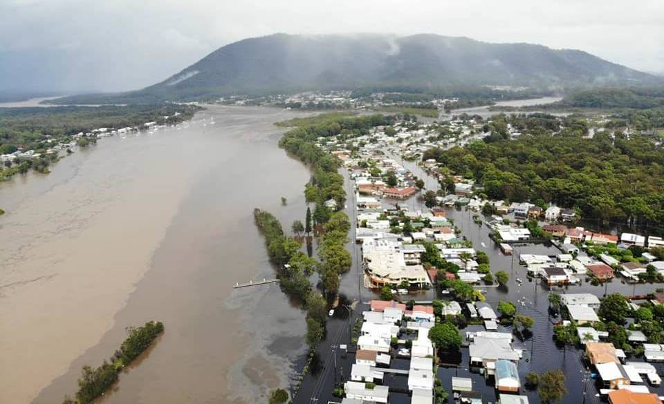 March 2021 floods-The Hastings River Port Macquarie