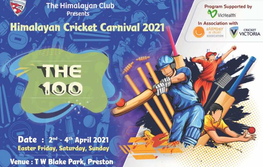 Himalayan Cricket Carnival 2021 is scheduled to kick off from 2nd to 4th of April 2021 atT W Blake Park, 63 Gower Street Preston 3072 (The Himalayan Club Home Ground).