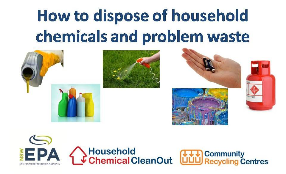 How to dispose of household chemicals and problem waste