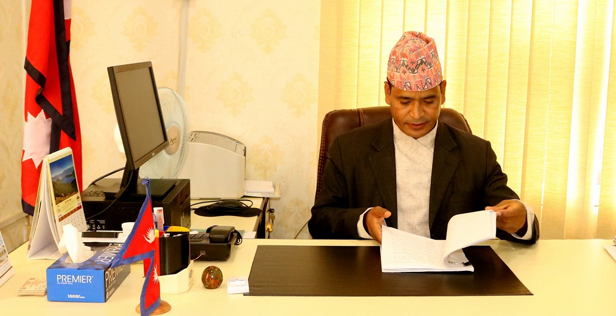 Chief Minister of Karnali Province, Mahendra Bahadur Shahi.
