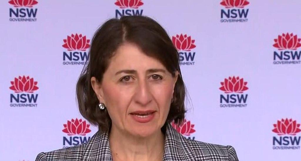 The NSW Premier Gladys Berejiklian announces a new case of community transmission.