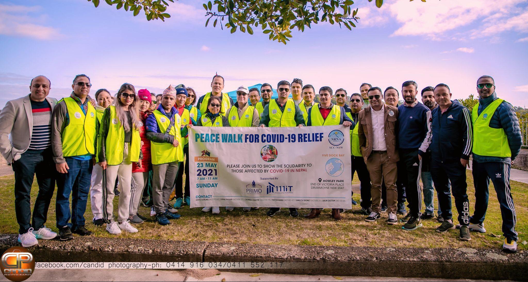 Peace walk for COVID-19 Relief