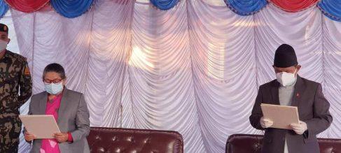 गण्डकीमा गुरुङ फेरि मुख्यमन्त्री नियुक्त, लिए शपथ