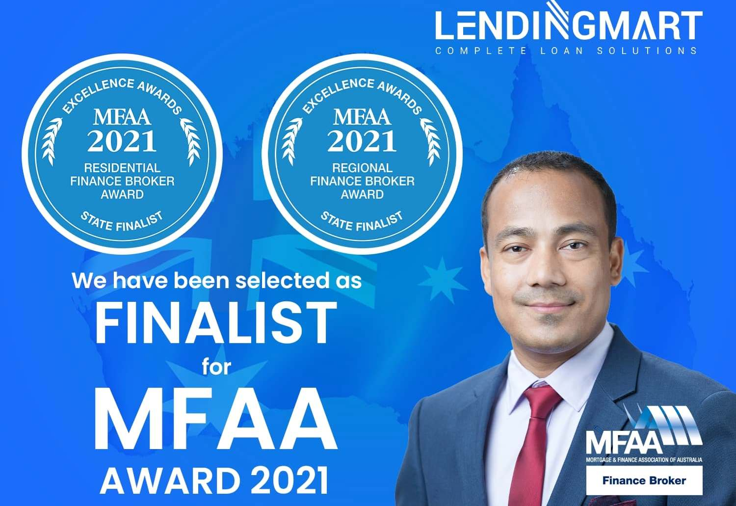 Shree Krishna Dhungana named state finalist at MFAA's Excellence Awards