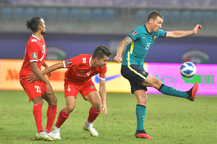 Australia progressed into the third round of qualifiers for the World Cup, with a 3-0 win over Nepal