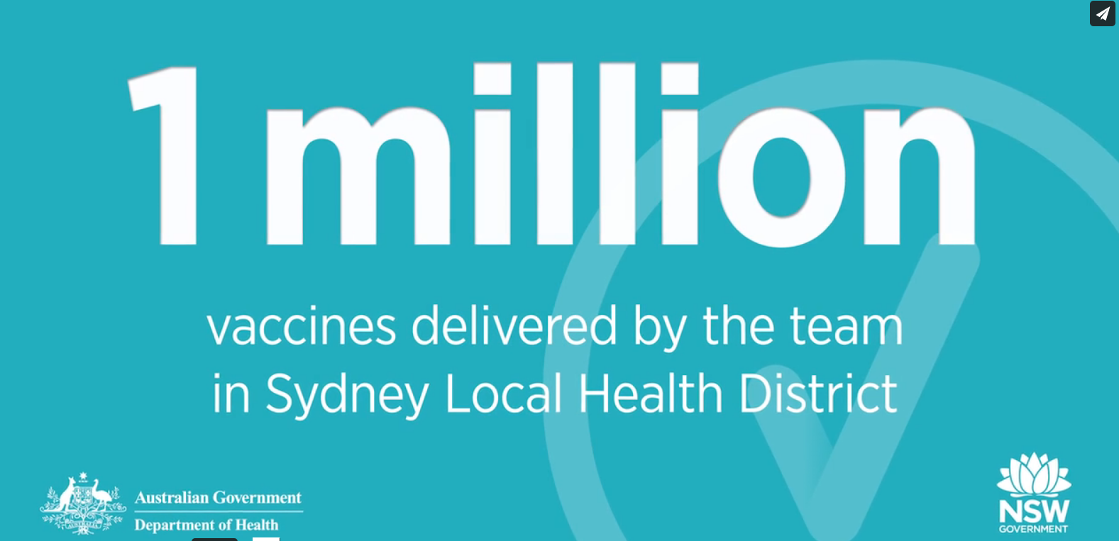 One million vaccines in Sydney Local Health District
