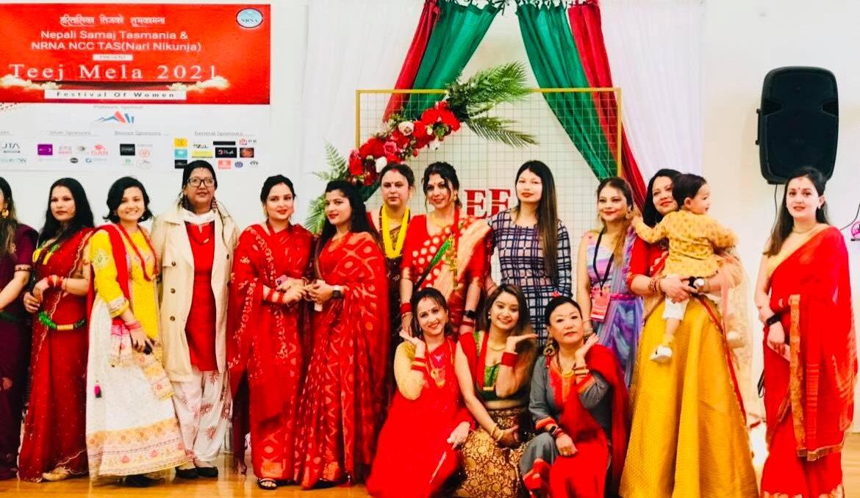 Teej Nepalese Festival celebration in Hobart,organise by Nepali SamajTasmania.